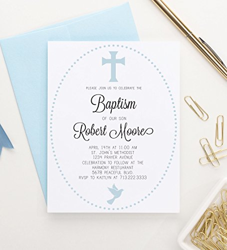 Baptism Invitations Elegant, Christening Invitations Boys, Personalized Baptism
