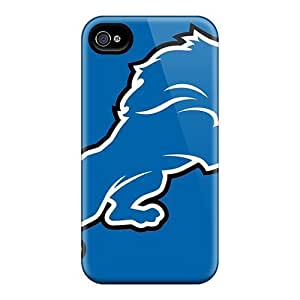 Fashionable BAuUSDc3285iBFyh Iphone 4/4s Case Cover For Nfl Detroit Lions Logo Blue Protective Case by heywan