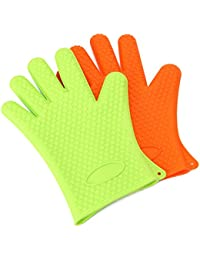 Gain 1 PCS Kitchen Tool Heat Resistant Glove Oven Pot Holder BBQ Glove deliver