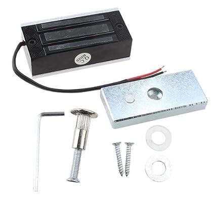 AGPtek ® Full Set RFID Porte Accès Contrôle Système Kit avec 60kg Serrure Magnétique Electrique 110-240V AC 12V DC 3A 36W Power Supply Proximité Porte Entrée Pavé Numérique 10 Bouton EXIT Breloques