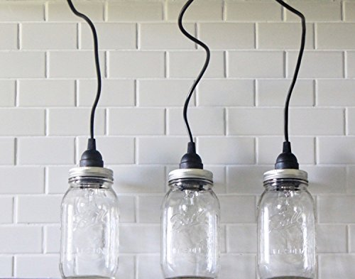 3 Mason Jar Pendant Light in US - 6