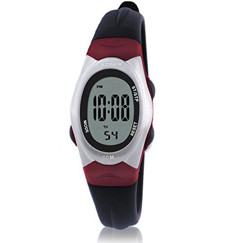 Children's multi-function digital electronic watch,Jelly led 50 m waterproof resin strap alarm stopwatch girls or boys fashion vintage wristwatch-C by CDKIHDHFSHSDH