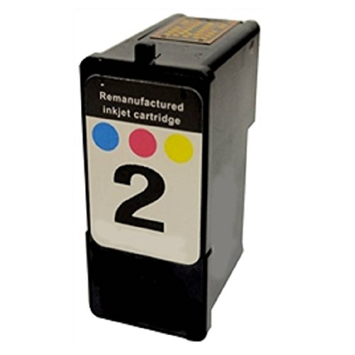 WORLDS OF CARTRIDGES Remanufactured Ink Cartridge Replacement for Lexmark #2 / 18C0190 (Color) for Use in X2480 / X2580 / X3480 / X3580 / X4580 / Z1380 / Z1480