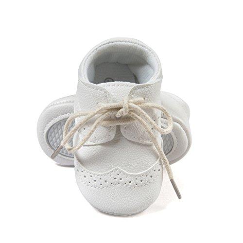 Estamico Baby Boys Shoes Prewalker PU Sneakers White US 4 - Image 3