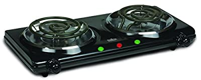 Salton HP1427 Portable Cooking Range, Double Burner, Black