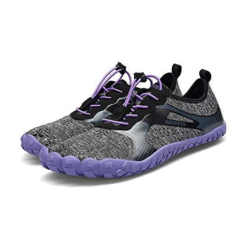Rápido 43 Caminar Drenaje purple Para Purple Deportivo Acuático Secado Orificios Canotaje Hombres Calzado Playa Yoga Parque Con Zapatos Natación De Acuáticos Nada nR6Yxq7w