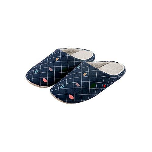 LaxBa Stoßdämpfung Stoßdämpfung LaxBa Atmungsaktiv und Weichen Schlafzimmer Indoor Winter Hausschuhe für Männer und Frauen dunklen grayMale 42-44 [290 mm lang Schuhe] - affb49