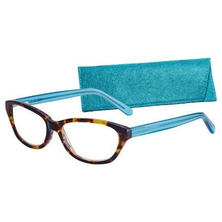 ICU Catalina Tortoise Front Blue Cat Eye Reading Glasses +1.