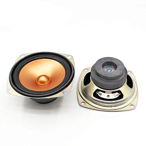 - 2pcs 4 Ohm 10W Loudspeaker 78MM 3 Inch Square Golden Speaker Bullet Cap 45MM External Magnetic Double Magnet Height 40MM