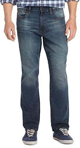 Izod Men's Comfort Stretch Relaxed Fit Jean,32x30,Lexington -