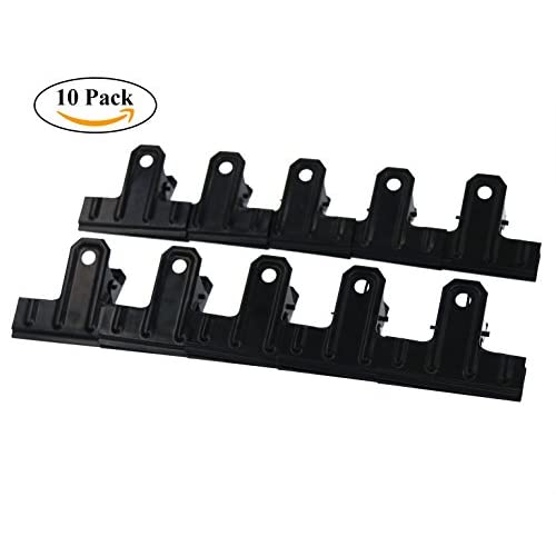 Nice Black Large Bulldog Clips, Coideal 10 Pack 2.6 Inch Metal Binder Clips File Paper Money Clamps for Food Bags, Office and Home Kitchen for sale