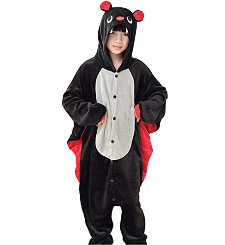 Cosplay Costume Oops (Oops Style Childrens Pajamas Animal Onesies Kids Cosplay Costume Homewear (95(Height110-120cm), Bat-White))