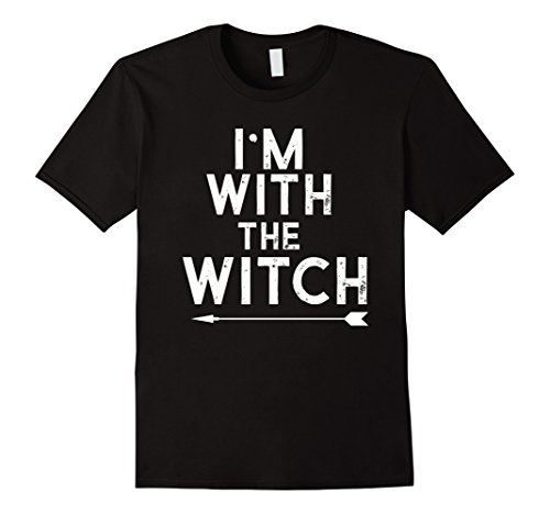 Halloween Costumes I Party (Mens I'm With The Witch Halloween Costume Funny Party Shirt XL Black)