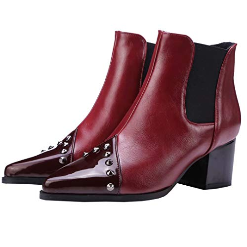 Boot Red AIYOUMEI Women's AIYOUMEI Classic Women's Bwx8UIY