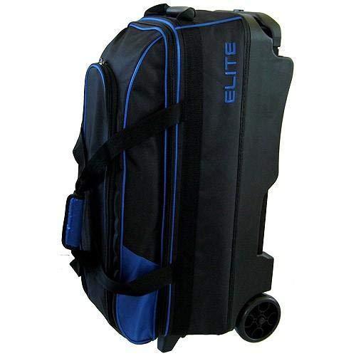 Elite 3 Ball Rolling Bowling Bag - Blue (Elite Bowling Ball Bag)