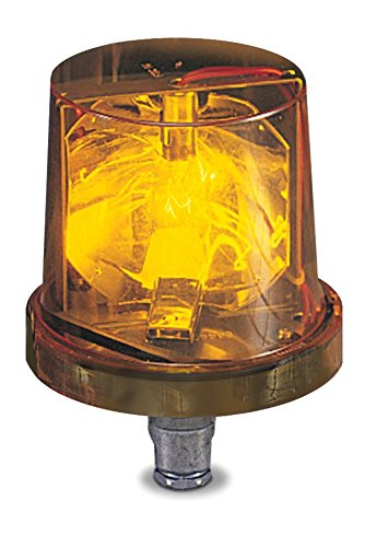 Federal Signal 225-120A Electraray Incandescent Rotating Warning Light, 1/2'' NPT Pipe Mount, 120 VAC, Amber