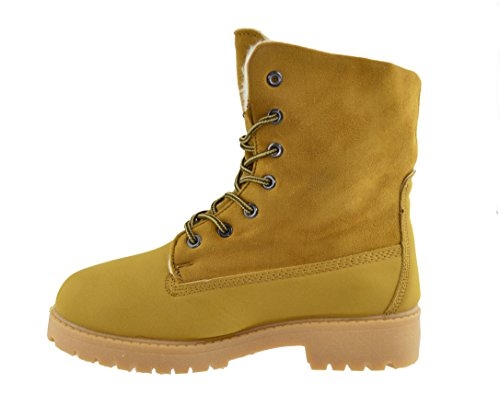SFO  PT6317,  Damen Combat Boots Camel