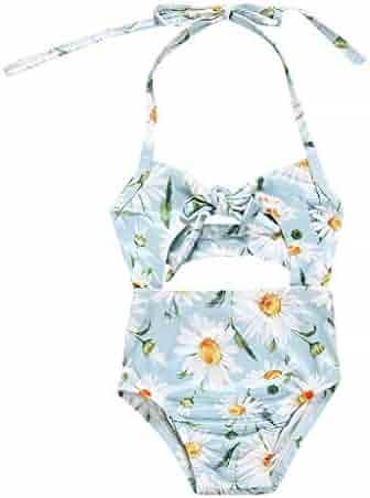 f30ad967e58 Rolayllove Kids Baby Girls Bikini, Floral Print Vest Summer Swimwear One  Pieces Swimsuit Romper Jumpsuits