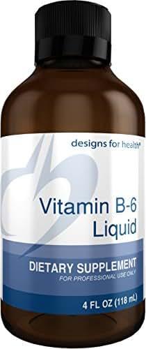 Designs for Health Vitamin B6 Liquid - 50mg P-5-P with Magnesium + Zinc (24 Servings / 4 Fluidoz)