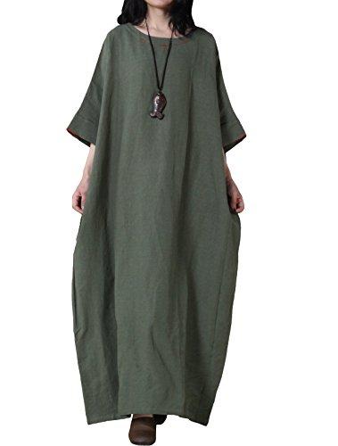 Mordenmiss Women's Bat Sleeve Summer Maxi Dress New (Larg...