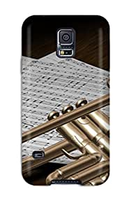 Galaxy S5 Case Slim [ultra Fit] Trumpet D Design Music Protective Case Cover