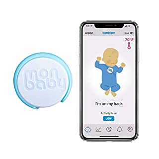 MonBaby (A) Smart Baby Monitor with Breathing, Rollover and Temperature Sensors: Track Baby's Breathing, Body Movement, Ambient Temperature. Low Energy Bluetooth.