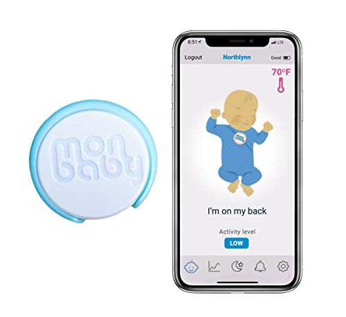 MonBaby (A) Baby Sleep Monitor with Breathing, Body Movement Rollover and Temperature Sensors. Live Track Baby's Breathing, Rollover, Ambient Temperature.