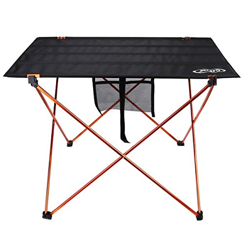 G4Free Ultralight Portable Folding Table Compact Roll Up Tables with Carrying Bag for Outdoor Camping Hiking Picnic