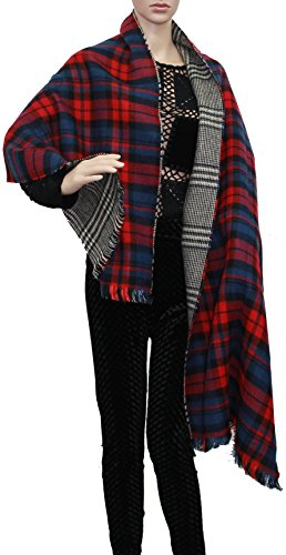 SwankySwans - Poncho -  donna rosso Red Large