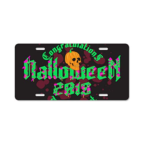 YEX Happy Halloween Party License Plate Frame Car