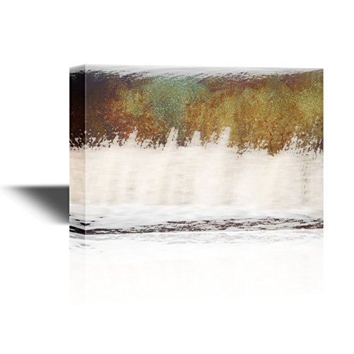Abstract Landscape Artwork with Brown and White Colors