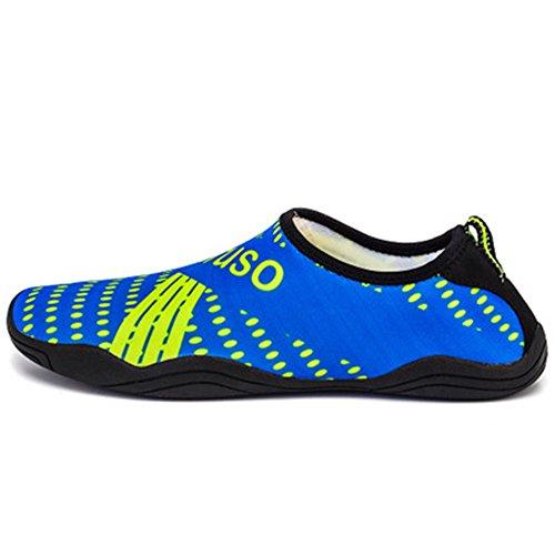 s Quick-Dry Aqua Shoes Lightweight Swim Shoes(Blue2,35/4 B(M) US Women/3 D(M) US Men) ()