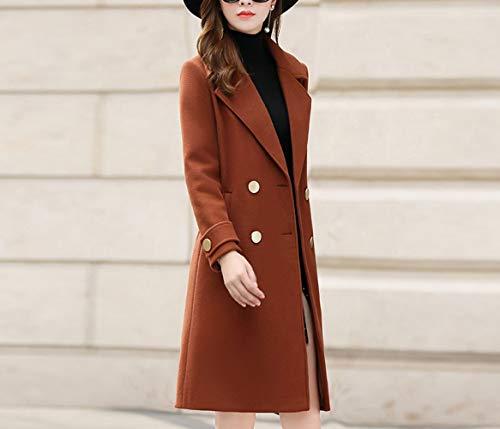 Automne Laine Manteau Hiver D'automne Femmes Longue D'hiver De Et Coton Mode D'hiver Chaud Ab Dames Caramel Dames qEdScPzv