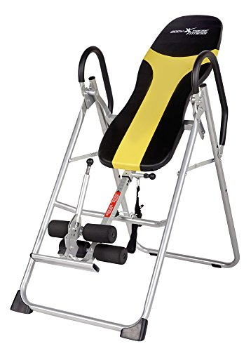 Body Xtreme Fitness ~ Heavy Duty Therapeutic Inversion Table, Comfort Foam Backrest, Relief of Back Pain, Adjustable Folding, Increase Blood Circulation + BONUS COOLING TOWEL