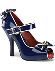 Funtasma 4 1/2 Inch Sexy High Heel Shoes Sailor Costume Shoes Mary Jane Pump Anchor