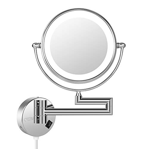 LED Light Wall Mount Makeup Mirror, Cozzine 7X Magnifying for sale  Delivered anywhere in Canada