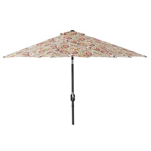 Pillow Perfect Multicolored Floral 9-foot Patio Umbrella