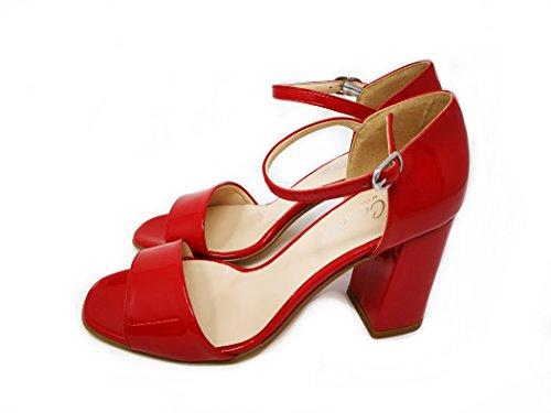 N0wpoxk8n 6carina Sandalias Moda Mujer Rojas Ybfg76yv