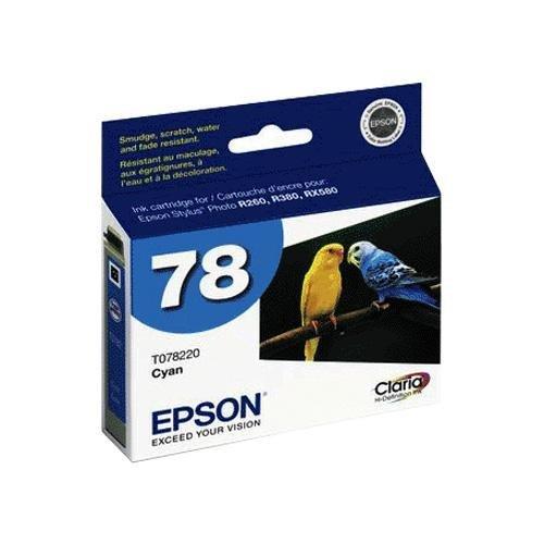 Epson 78 T078220 Cyan Hi-Definition OEM Genuine Inkjet/Ink Cartridge - Retail by (T078220 Cyan Inkjet)