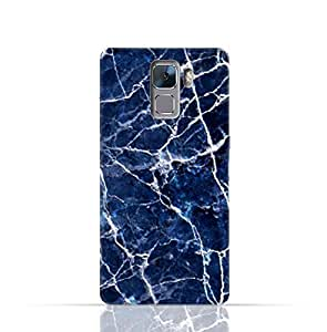 Huawei Honor 7 TPU Silicone Case With A Blue Marble Texture Design.