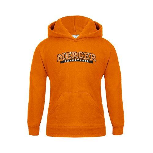 Mercer Youth Orange Fleece Hoodie Basketball