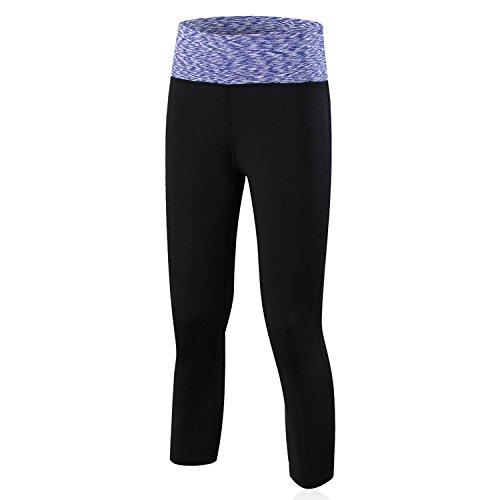 ZHLONG Yoga formación apretada estiramiento ejercicio físico corriente y Camo de secado rápido colorful purple