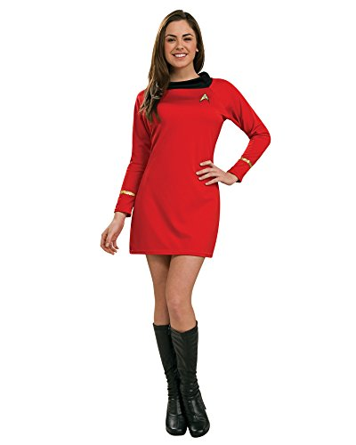 Womens Star Trek Costume Movie Costumes Trekky Red Shirt Dress Sizes: Small