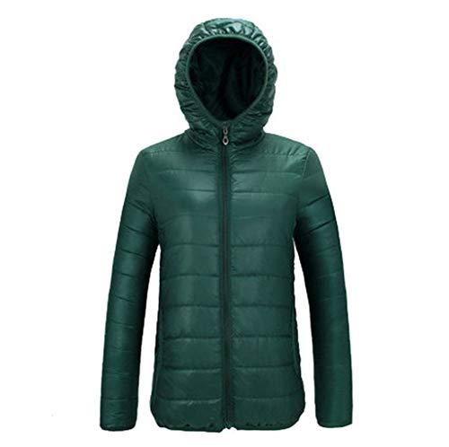 c2a201094a56 Ultra Compressible Manteau Coton Vert Légère Doudoune Veste Courte Foncé  Godgets À Femme Capuche En Blouson w7znE