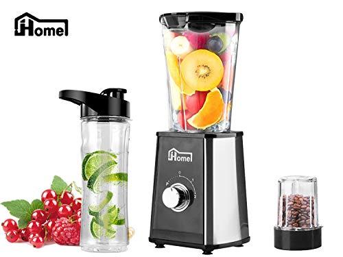 JHome Personal Blender Smoothies Maker Vegetable Fruit Juice With 20oz Portable Sport Bottle, Mini Coffee Bean Grinder