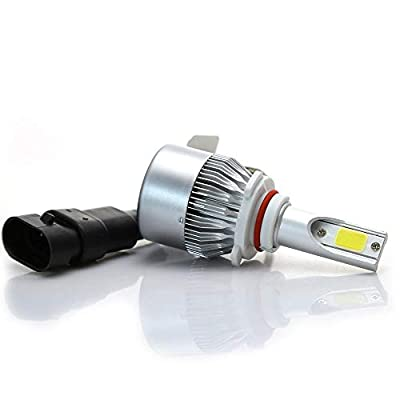 SPE LED Headlight Bulbs [9006] - 72W 7600LM 6000K Cool White Bulb - Direct Replacements, IP67 Waterproof - 2 Year Warranty: Automotive