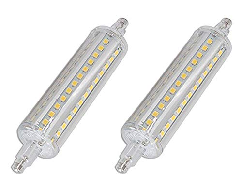 (CTKcom R7S 118mm LED Bulbs(2 Pack) - J Type 118mm Double Ended 10W 120V Halogen Bulbs Cool White 6000K,R7S Double Ended Filament Flood Lights Quartz Tube Lamps 100W Replacement T3 Halogen Bulb,2 Pack)