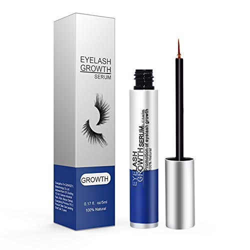- Eyelash Growth Serum, Eyelash Enhancer Lash Booster Eyebrow Growth Serum for Long, Luscious Lashes and Eyebrows-Irritation Free Formula(5ml) Blue