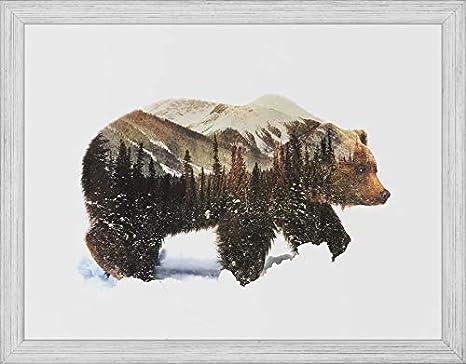 "Grizzly Bear Canvas Art Print Wildlife Huge Wall Decor Framed 40/""x30/"""