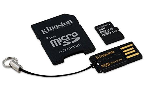 HobbyFlip LG G Flex2 Kingston Digital Multi-Kit/Mobility Kit 8 GB Flash Memory Card with Reader MBLY10G2/8GB